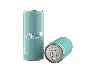 3D model Beverage can 330 ml