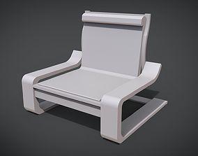 3D print model Wooden Modern Chair