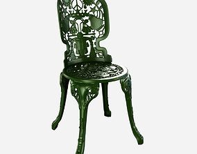 Seletti industry aluminium garden chair 3D model