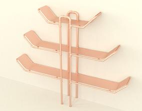 3D Copper bookstand