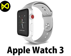 Apple Watch Edition Series 3 White 3D