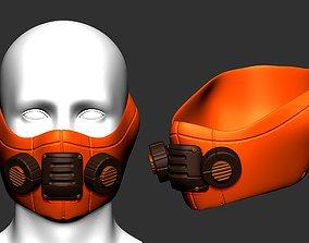 gas mask helmet scifi high poly sculpt ver 9 3d 1