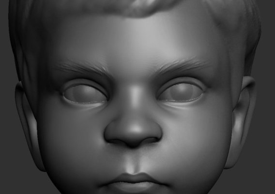 Child face sculpt