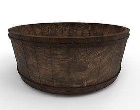3D model Medieval wooden washing tub