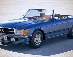 Mercedes SL r107 1981 3D
