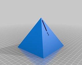 3D print model Pyramid Piggy Bank USD-GBP-EUR