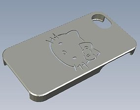 Iphone 4S Hello Kitty Bumper 3D print model