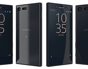 Sony Xperia X Compact Universe black compact 3D model