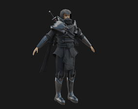 3D asset Dark Assassin