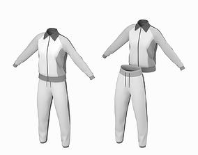 3D model Woman Sportswear 10 Low Poly Base Mesh fitness