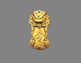 Cartoon chinese unicorn token - ancient soldier 3D model
