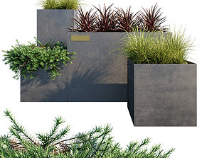 3D model Outdoor metal planter boxes