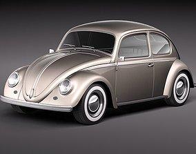 3D model Volkswagen Beetle 1950