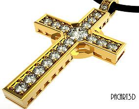 3D Cross with precious gems