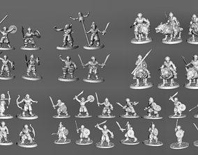 54 x Unique posed 28mm Miniature 3D printable model 2