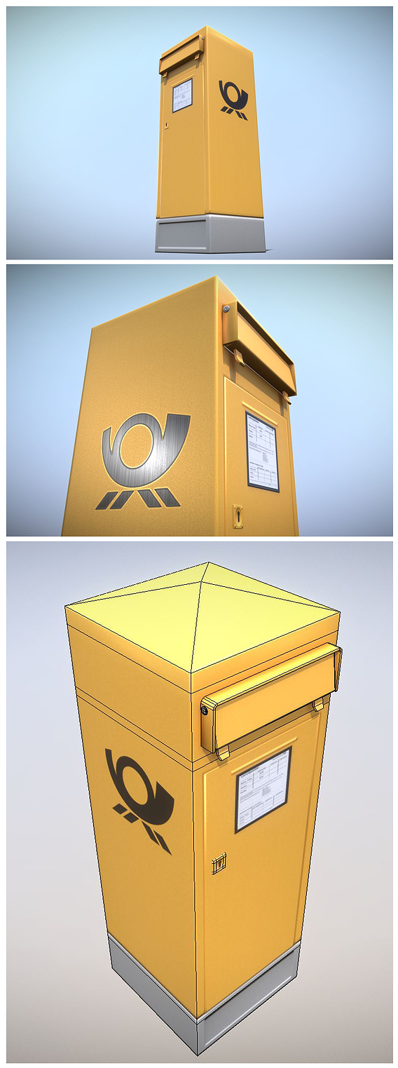 Mailbox 2 (Low-Poly Version)
