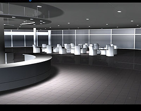 Car dealership interior 3D model