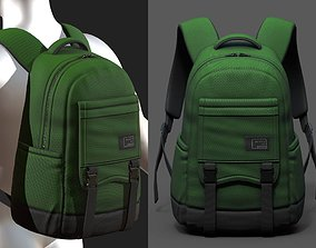 Backpack bag baggage pockets product 3D asset