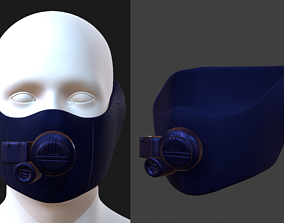 Gas mask helmet 3d model realtime 2