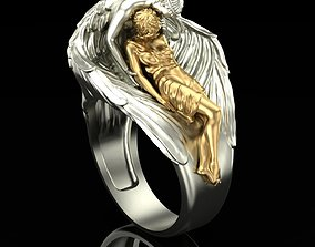 Ring Angel and sleeping 3D print model