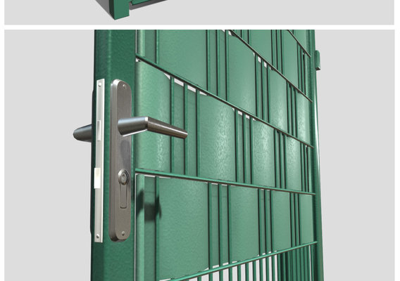 Green Garden Door