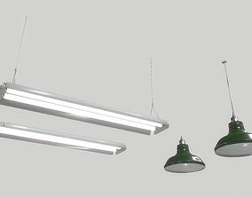 3D asset Industrial lights 3