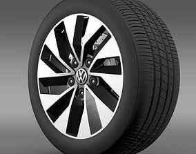 3D model Volkswagen Polo BlueMotion 2014 wheel