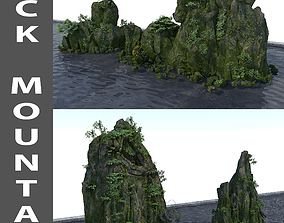 cliff 3D Rock Mountain