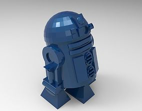 3D print model r2d2 low poly