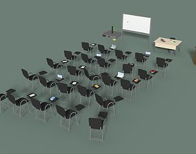 Low Poly Office Conference Hall 3D model