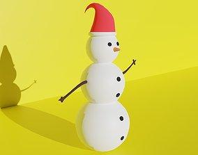 VR / AR ready Snowman 3D Model Free