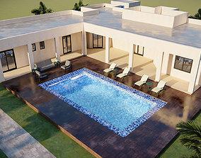 landscape design of a village house 3D