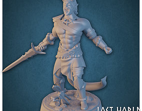 Tiefling Barbarian - Supported - 3D printable