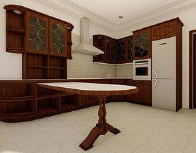 3D model suburban KITCHEN FURNITURE