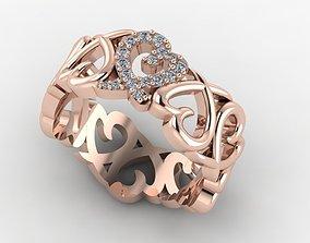 Paloma Picasso Tiffany ring 3D printable model