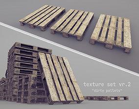 3D asset Cargo Wood Pallets EUR EPAL vr-2