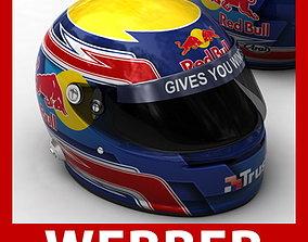 Helmet F1 2009 Mark Webber 3D