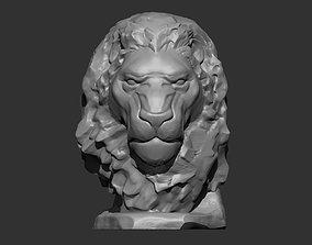 Lion bust 3D print model