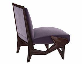 Important and Unique Ico Parisi Lounge Chair 3d model