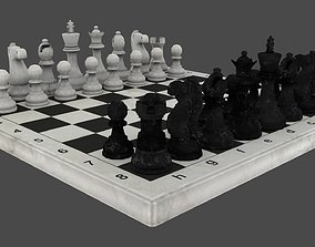 3D asset low-poly Chess