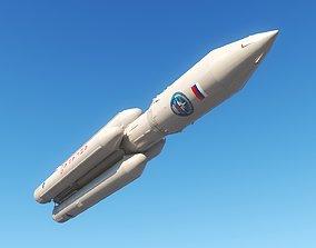 3D asset game-ready Angara A5 Rocket