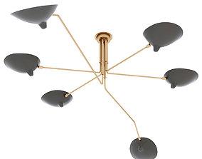 Serge Mouille chandelie 6 arms 3D model