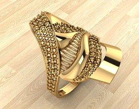 gold 3D print model RING 174