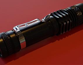 military lamp Flashlight 3D model
