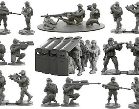 3D Army 32mm scale