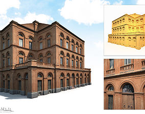 3D asset Building Facade 184 Low Poly