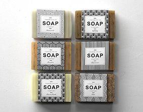 3D model Soap Set 01 brown