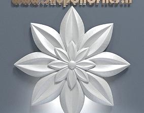 3d carved flower decor