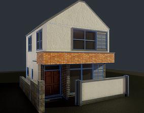 3D asset Japanese House Residential 01