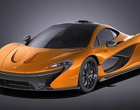 McLaren P1 Concept 2013 VRAY 3D model